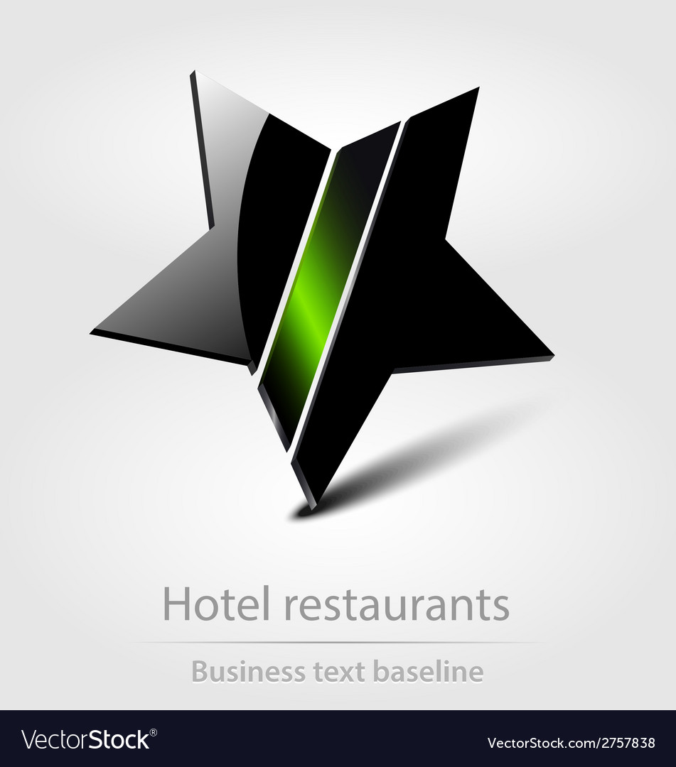 Hotel restaurants business icon vector | Price: 1 Credit (USD $1)