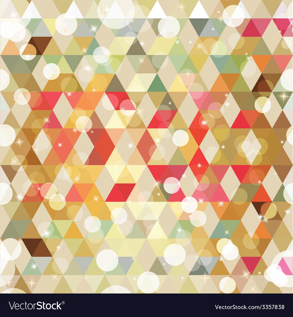 Pattern of geometric shapes colorful mosaic vector | Price: 1 Credit (USD $1)