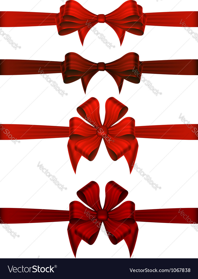 Red gift ribbons vector | Price: 1 Credit (USD $1)