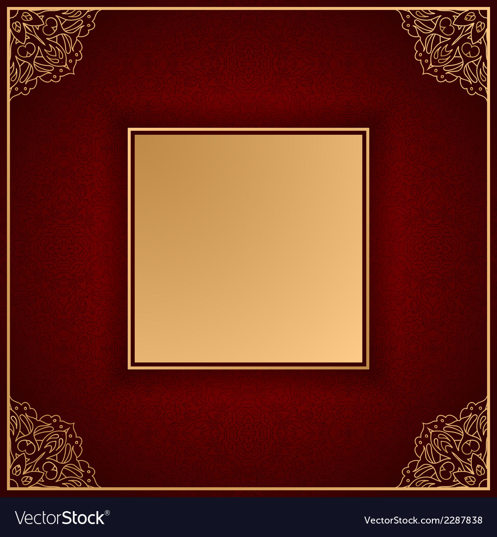 Royal luxury red invitation card with ornament vector | Price: 1 Credit (USD $1)