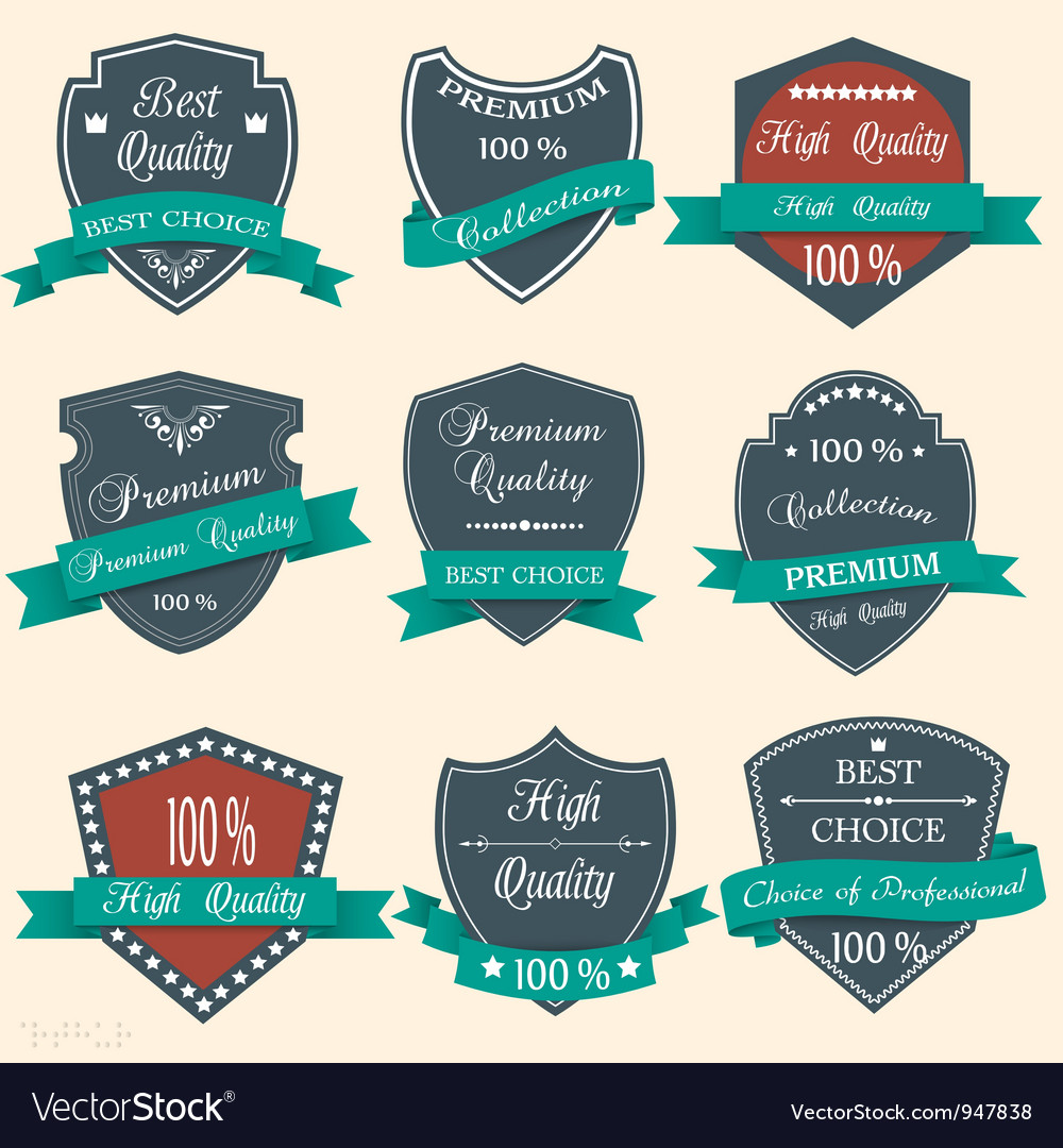 Set of premium quality labels vector | Price: 1 Credit (USD $1)