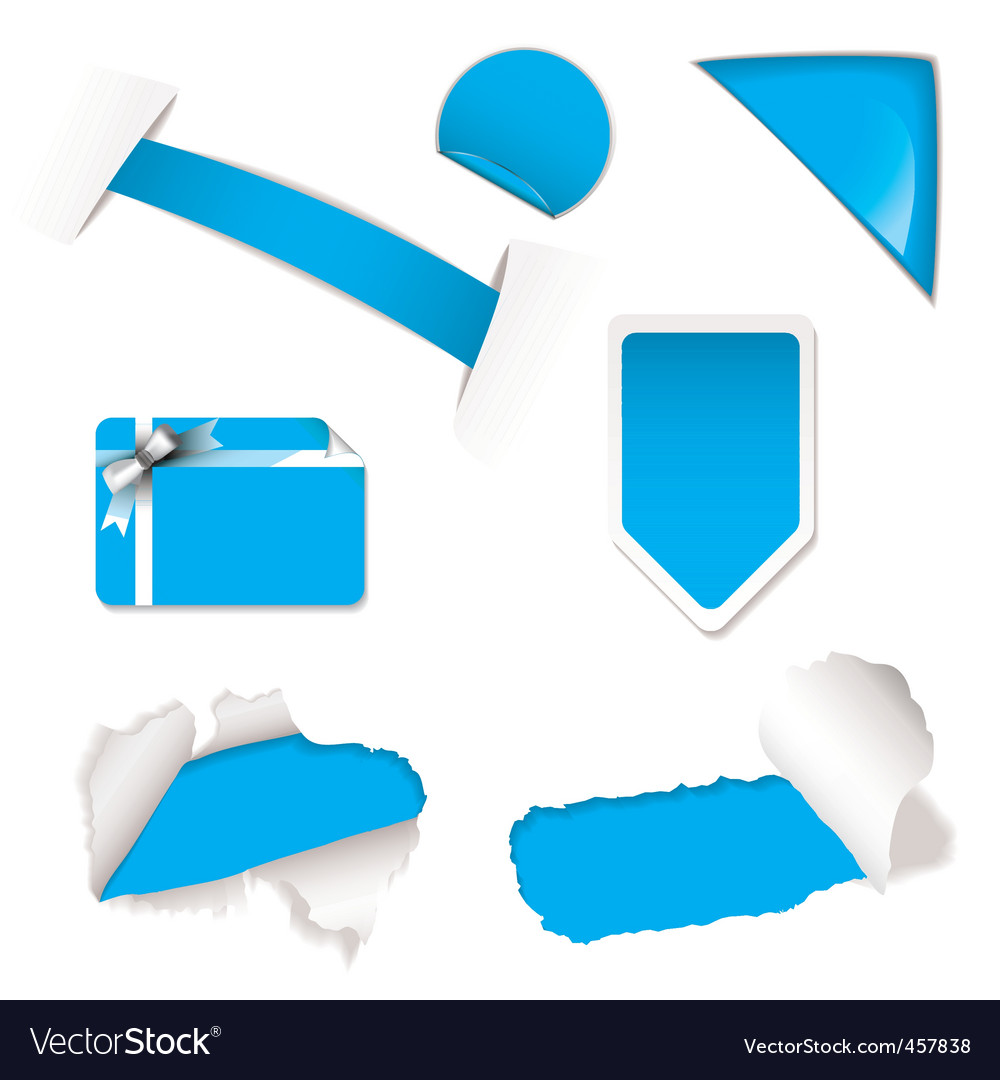Shop sale elements blue vector | Price: 1 Credit (USD $1)