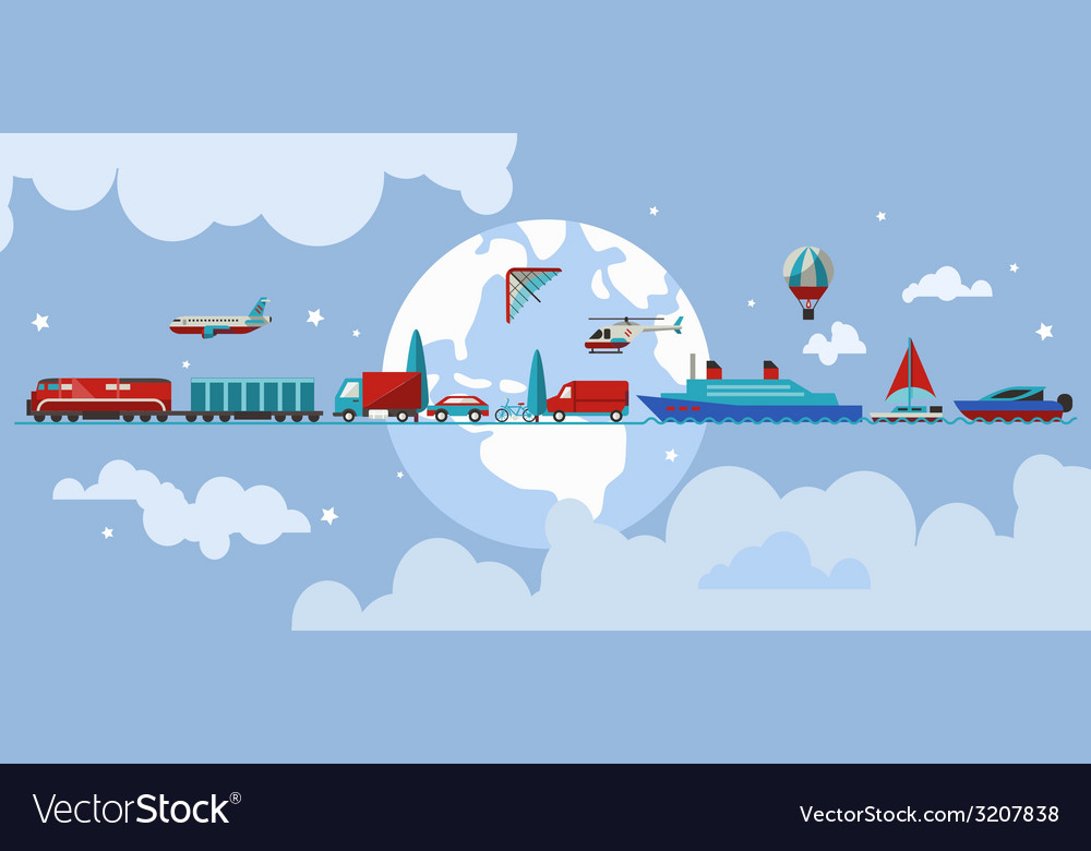 Transport vehicles concept vector | Price: 1 Credit (USD $1)