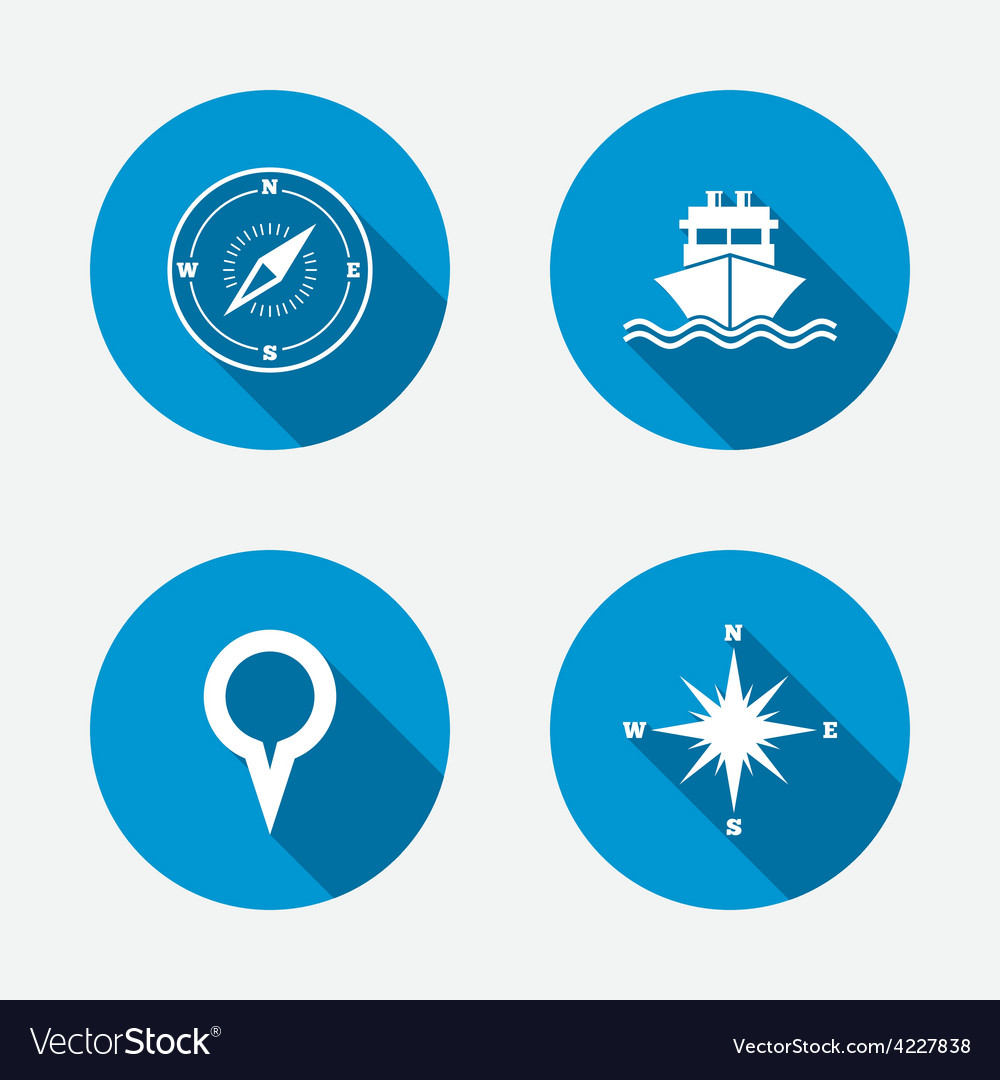 Windrose navigation compass shipping delivery vector | Price: 1 Credit (USD $1)