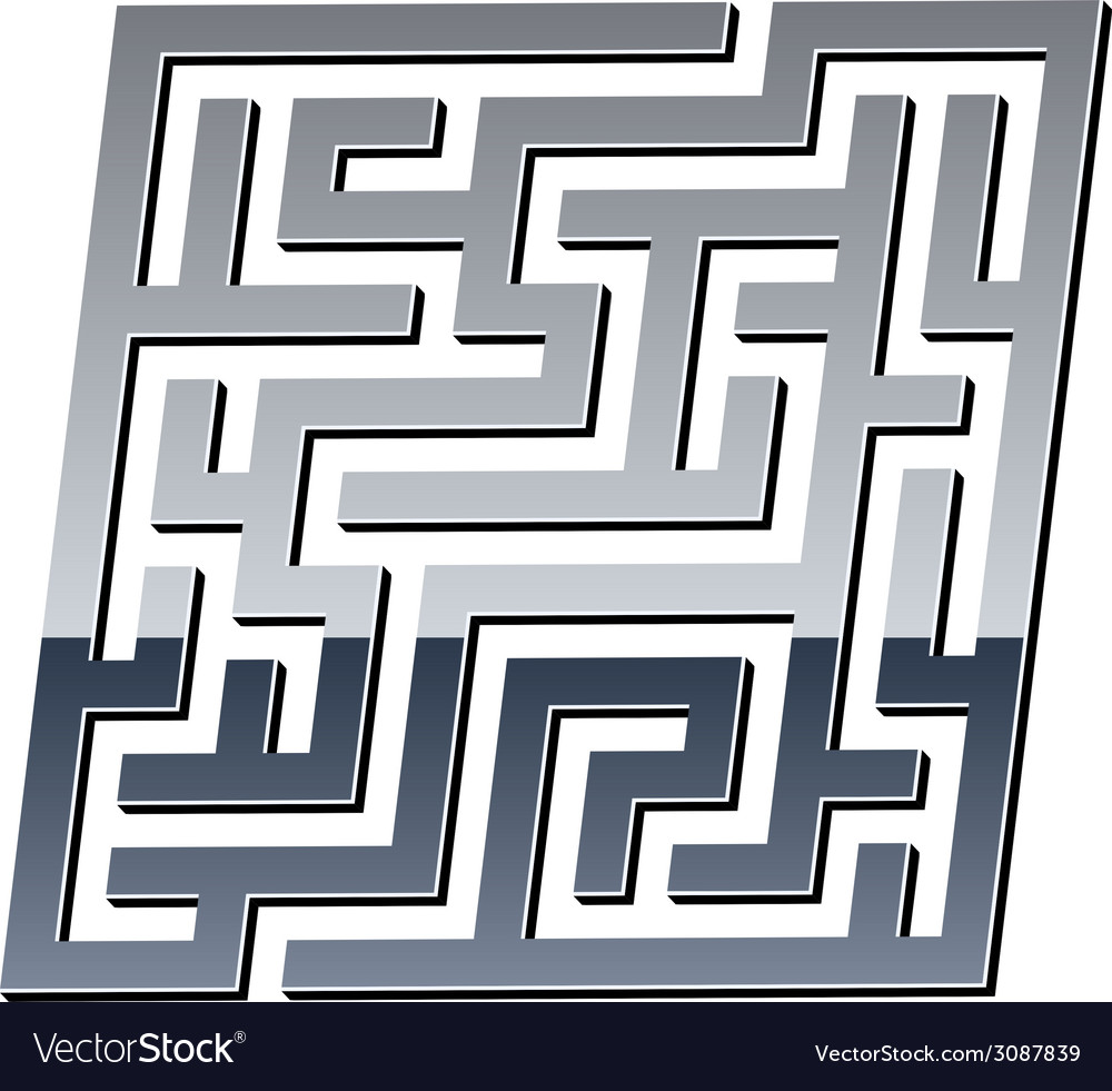 3d shiny maze vector | Price: 1 Credit (USD $1)