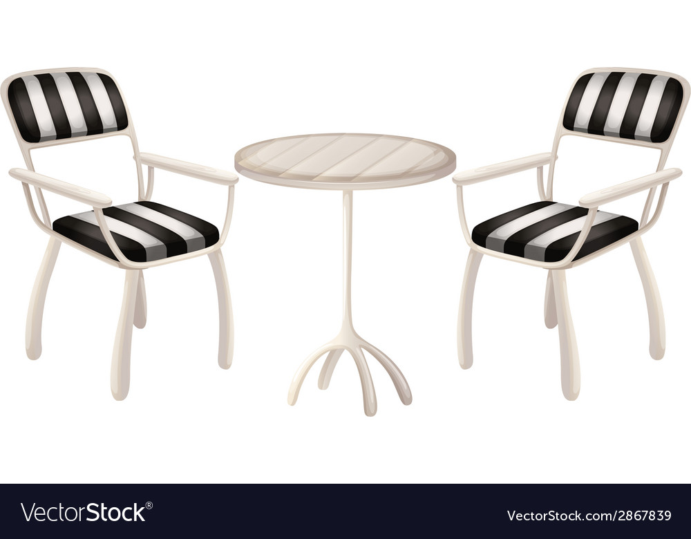 A table and two chairs vector   Price: 1 Credit (USD $1)