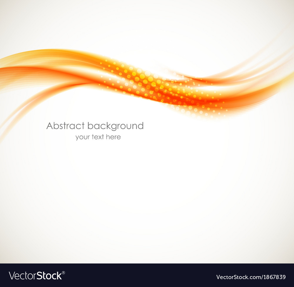 Abstract orange wave vector | Price: 1 Credit (USD $1)