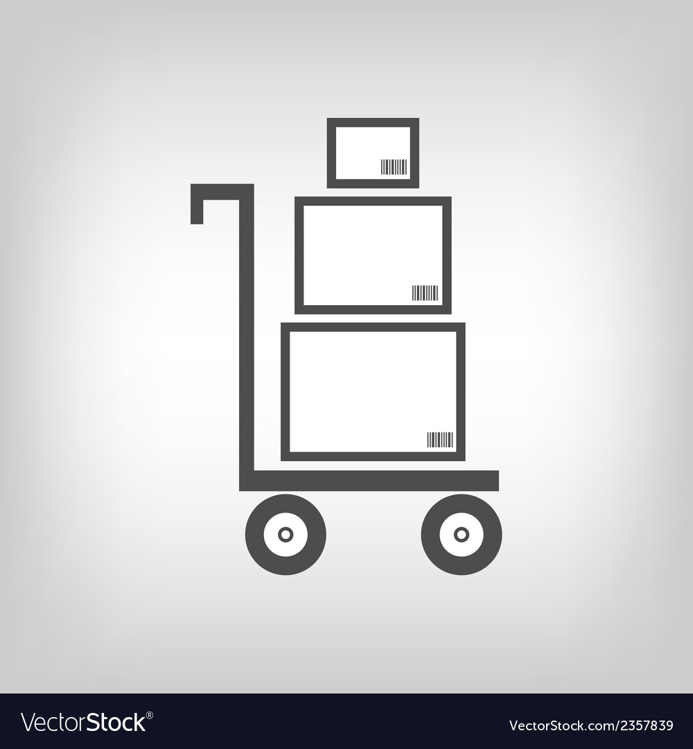 Cart with boxes as delivery symbol vector | Price: 1 Credit (USD $1)