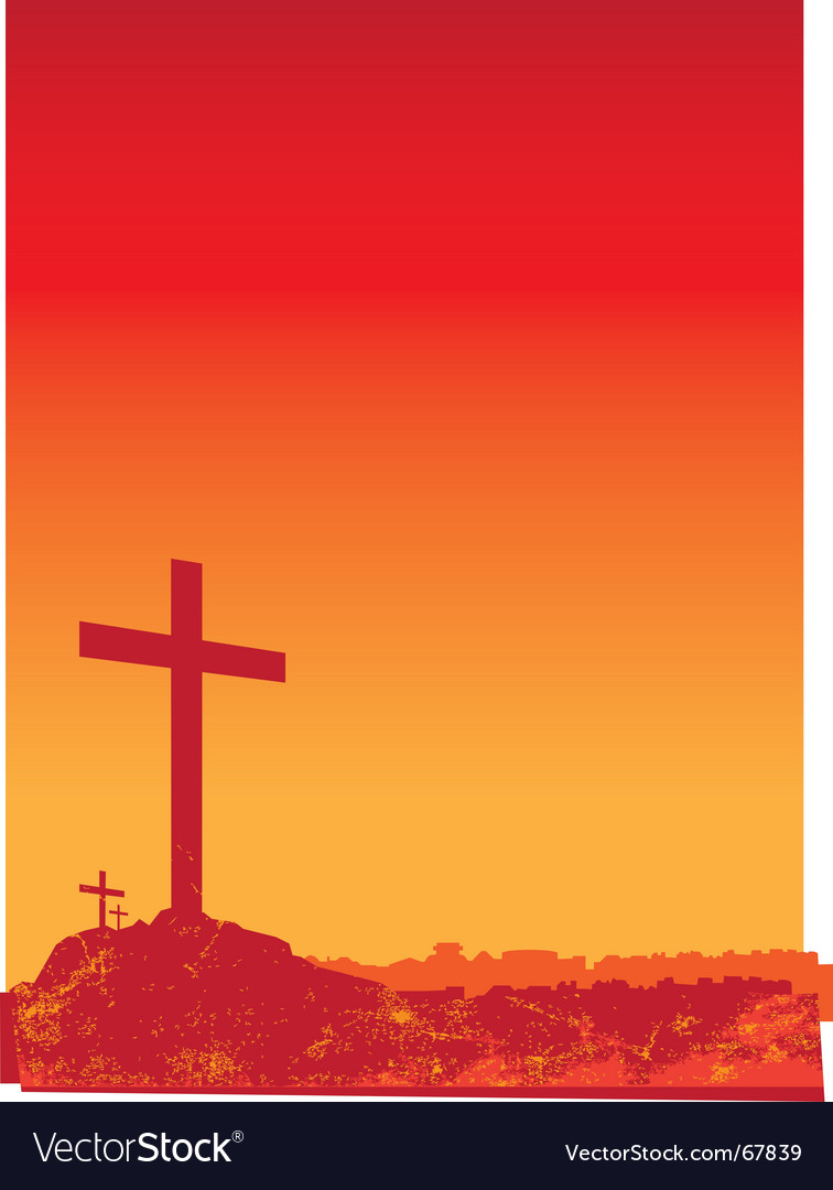 Christian grunge red vector | Price: 1 Credit (USD $1)