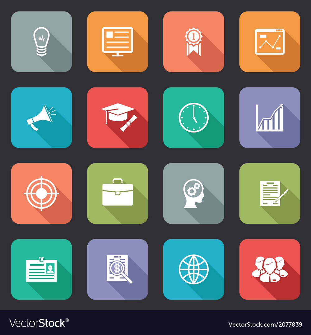 Collection of internet education icons vector | Price: 1 Credit (USD $1)