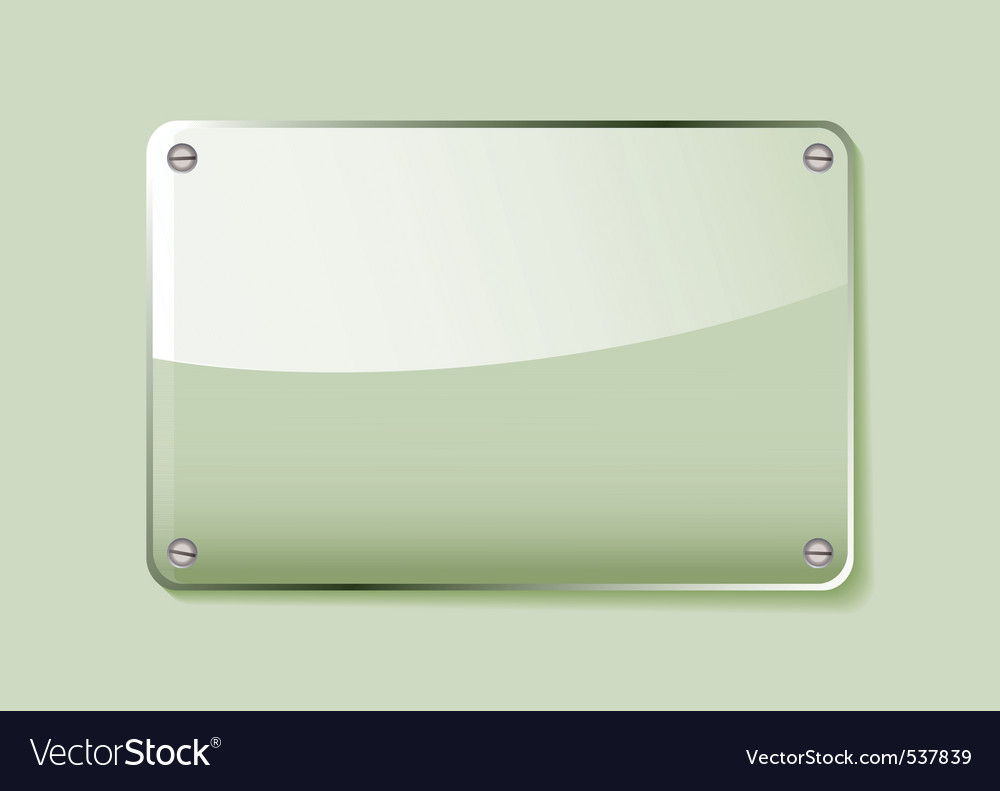 Green glass business name plate transparent with g vector | Price: 1 Credit (USD $1)