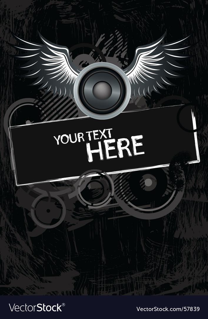 Grunge wings vector   Price: 1 Credit (USD $1)