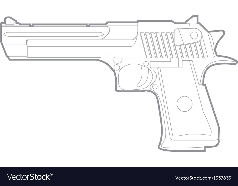 Gun silhouette vector | Price: 1 Credit (USD $1)