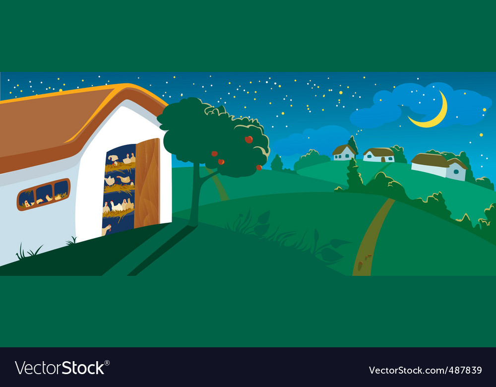 Hen house vector | Price: 3 Credit (USD $3)