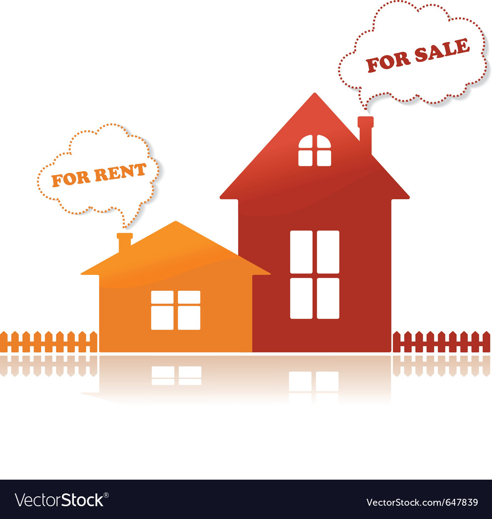 Houses for sale vector | Price: 1 Credit (USD $1)