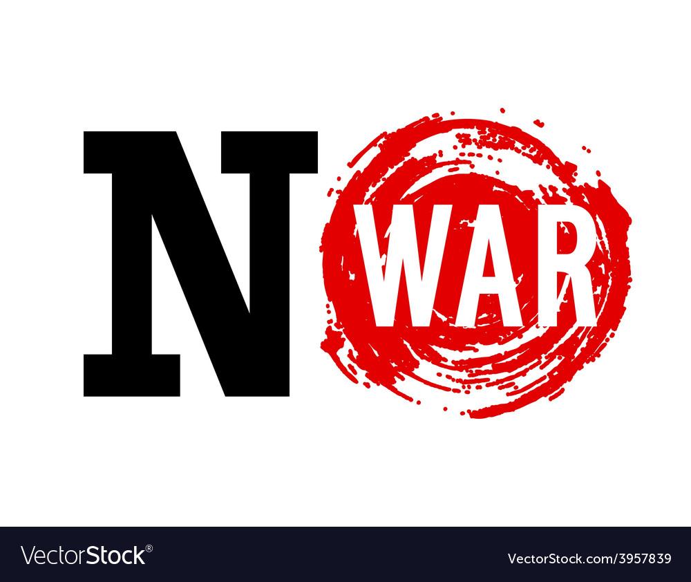 No war banner vector   Price: 1 Credit (USD $1)