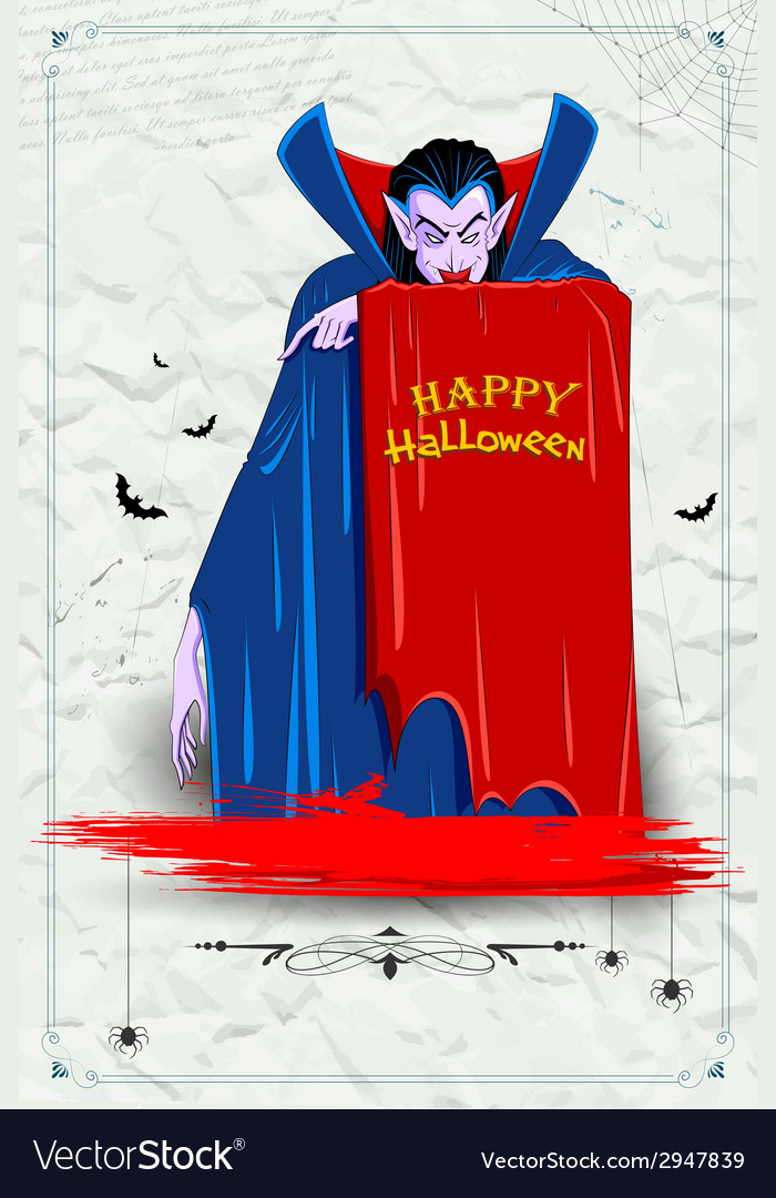 Scary dracula in halloween night vector | Price: 1 Credit (USD $1)