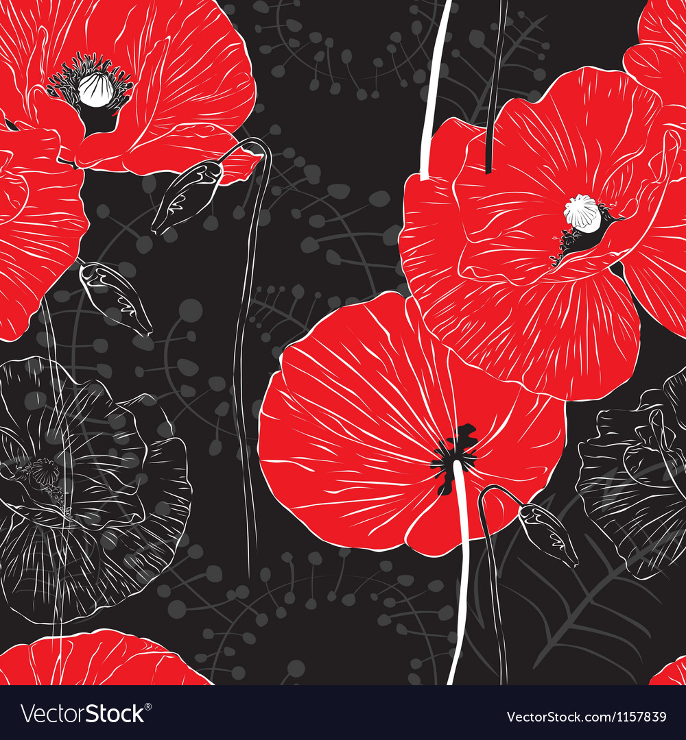 Seamless bright background with flowers vector   Price: 1 Credit (USD $1)