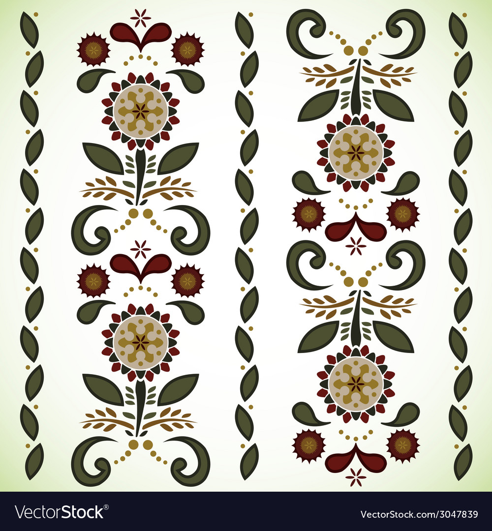Seamless flower pattern background vector | Price: 1 Credit (USD $1)