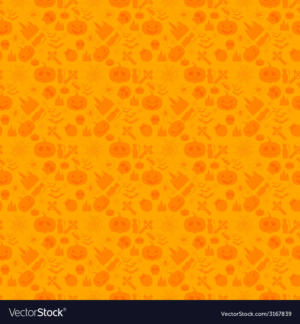 Seamless patterns for a happy halloween vector | Price: 1 Credit (USD $1)