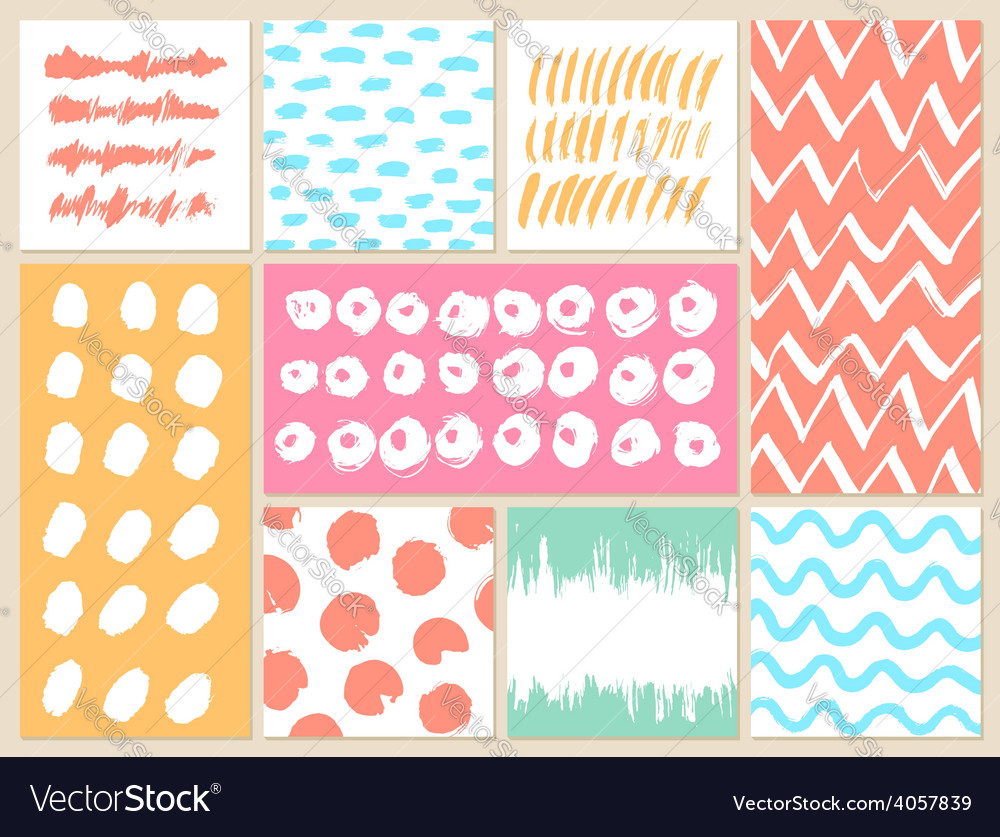 Set of creative cards with blots and scribbles vector | Price: 1 Credit (USD $1)