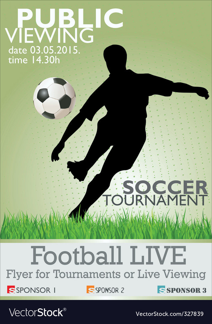 Soccer tournament flyer vector | Price: 1 Credit (USD $1)