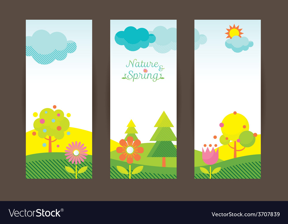 Spring season object icons backdrop vector | Price: 1 Credit (USD $1)
