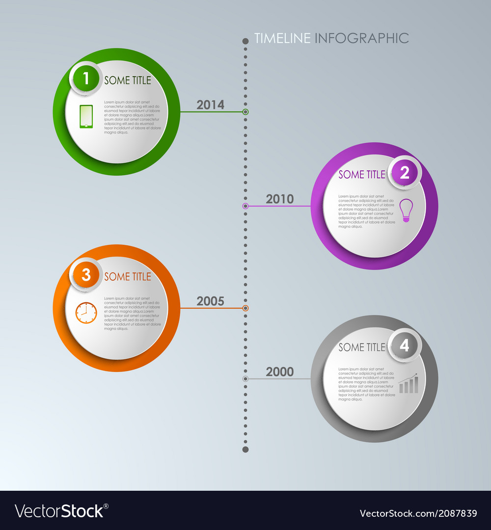 Timeline info graphic round template vector | Price: 1 Credit (USD $1)