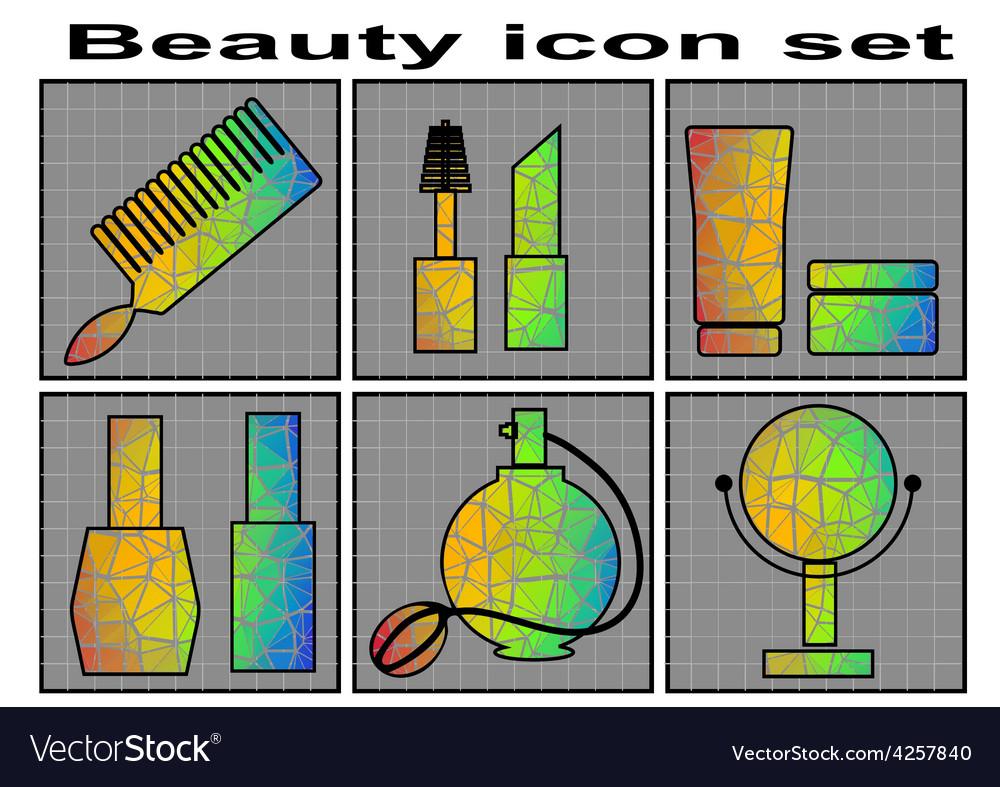 Beauty icon set vector | Price: 1 Credit (USD $1)