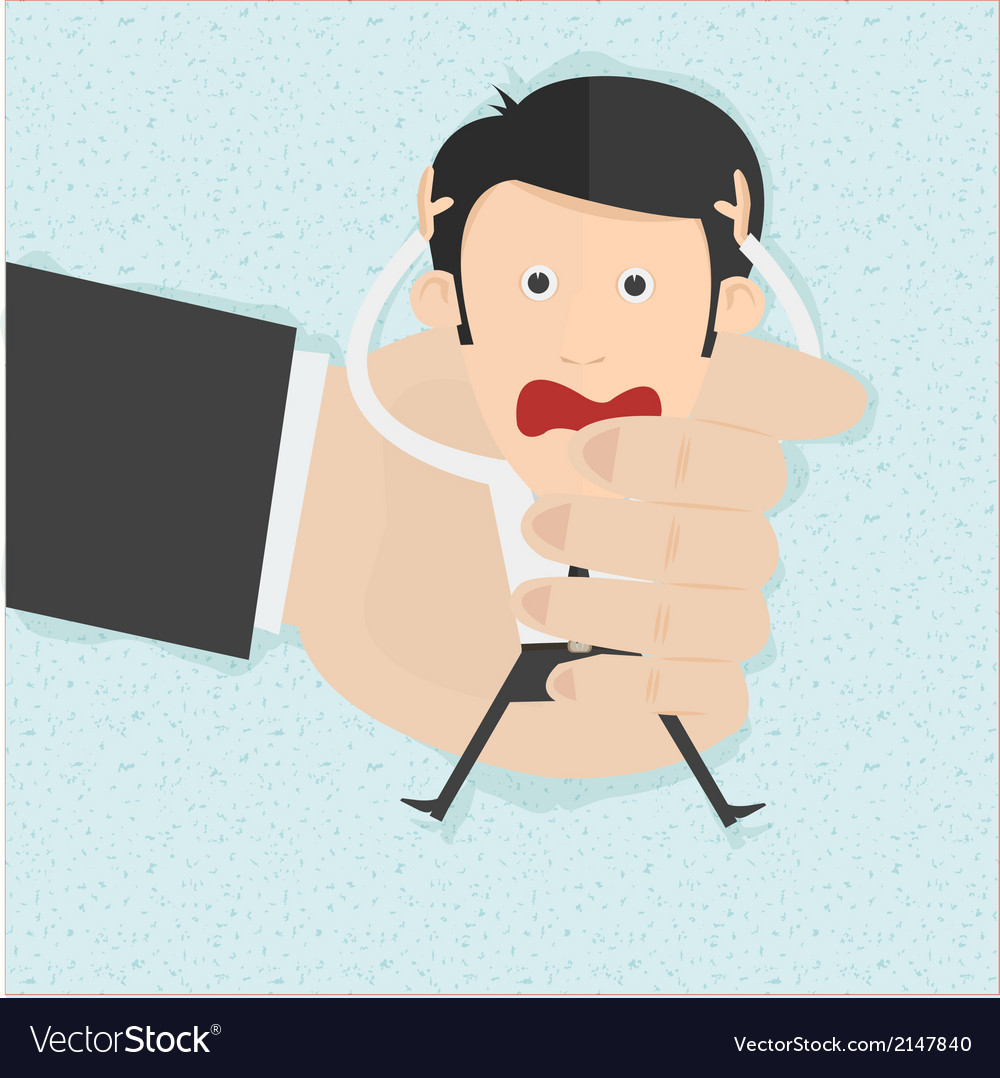 Businessman in big hands vector | Price: 1 Credit (USD $1)
