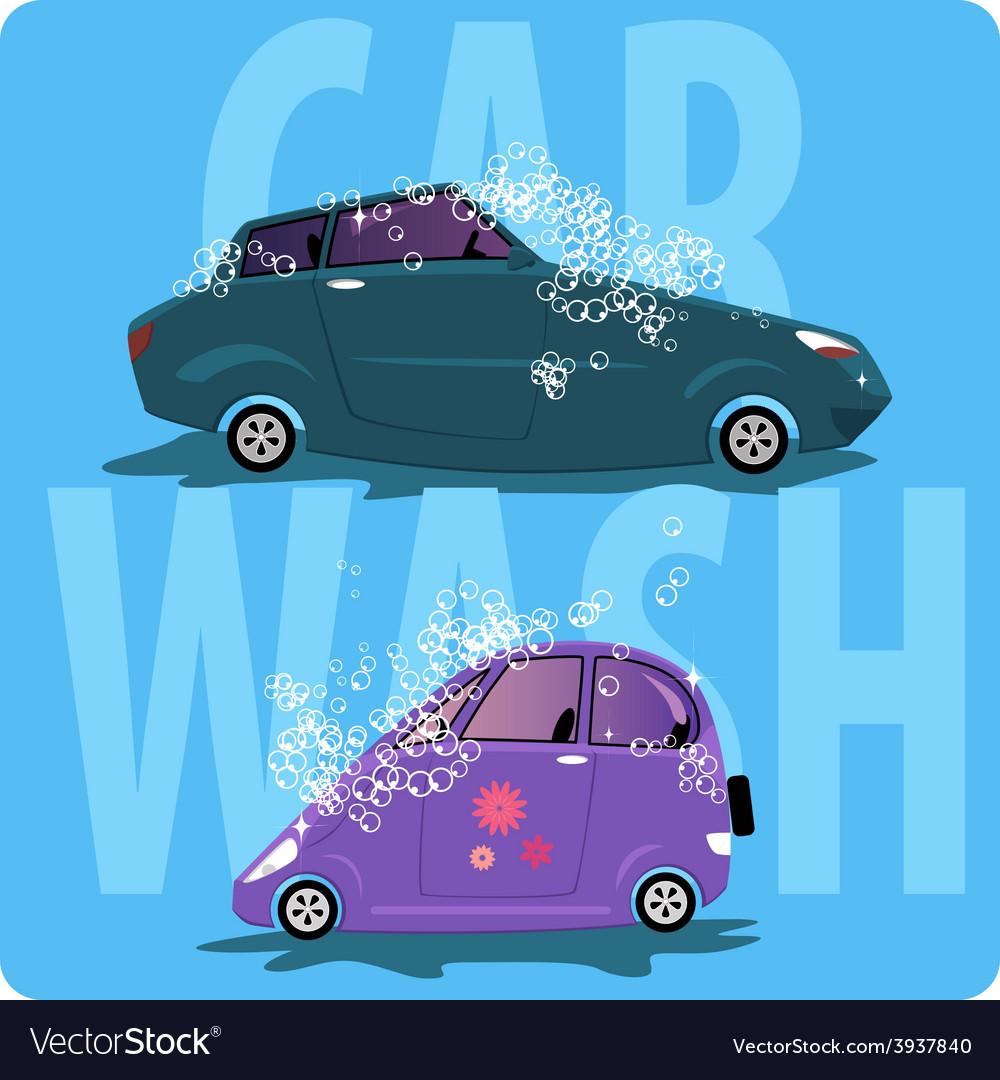 Car wash vector | Price: 1 Credit (USD $1)