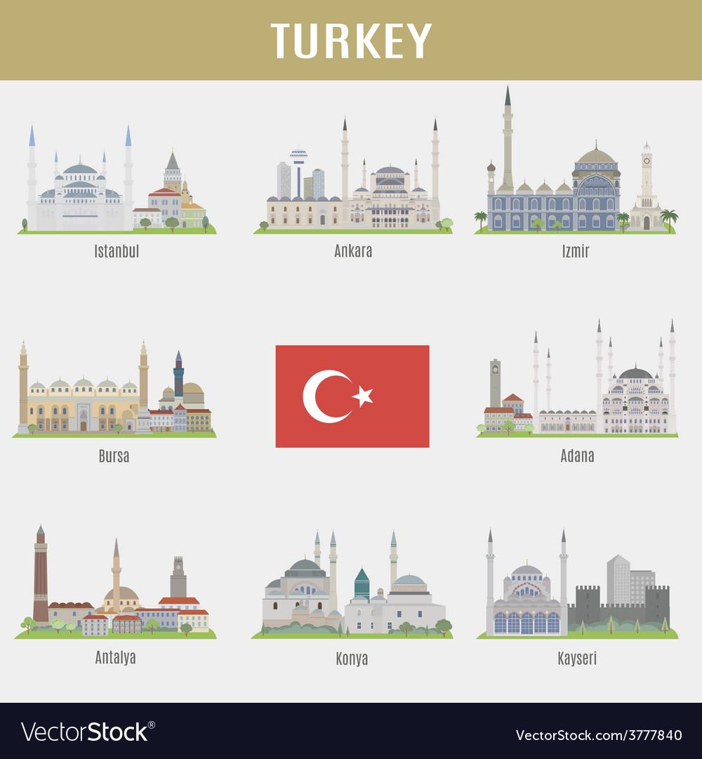 Cities of turkey vector   Price: 3 Credit (USD $3)