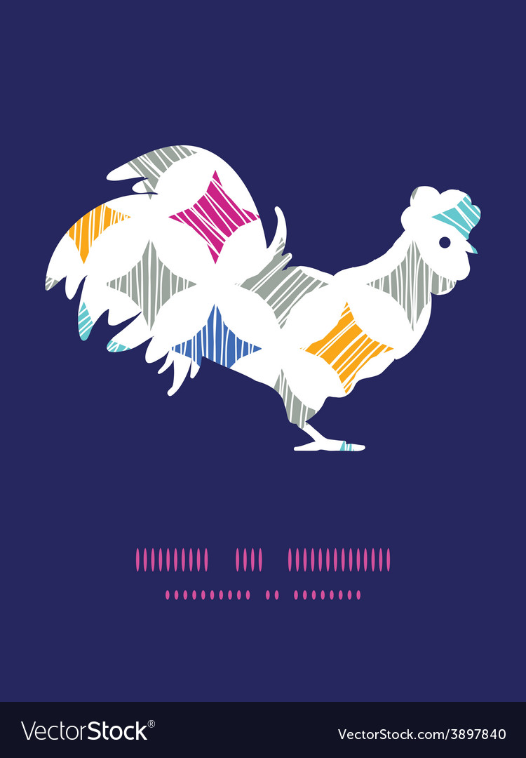 Colorful marble textured tiles rooster vector | Price: 1 Credit (USD $1)