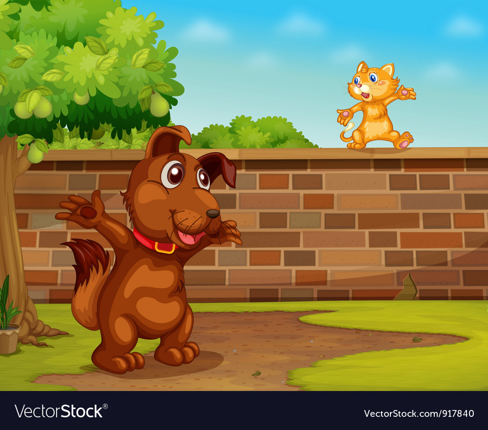 Dog and cat vector | Price: 3 Credit (USD $3)