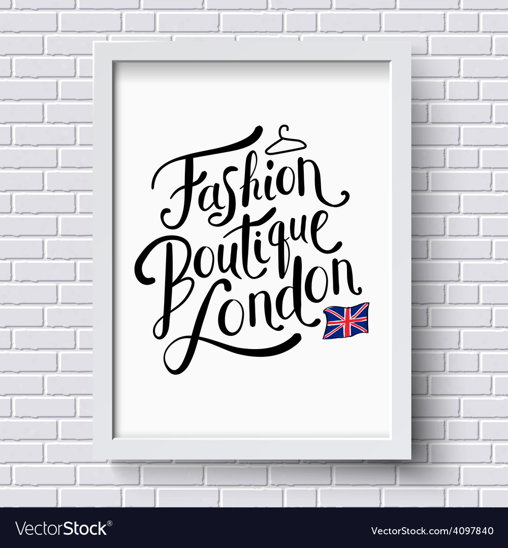 Fashion boutique  london vector   Price: 1 Credit (USD $1)