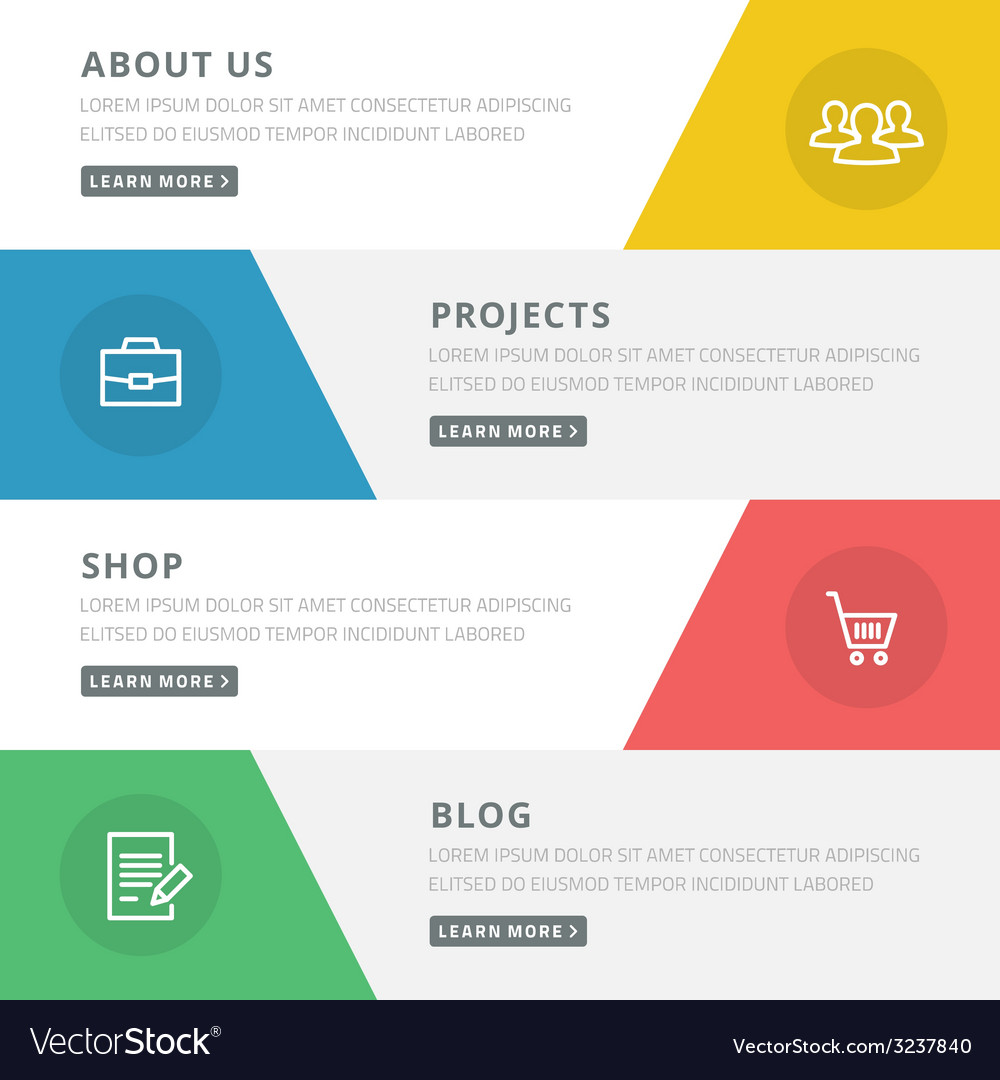 Flat design concept for website template - about vector | Price: 1 Credit (USD $1)