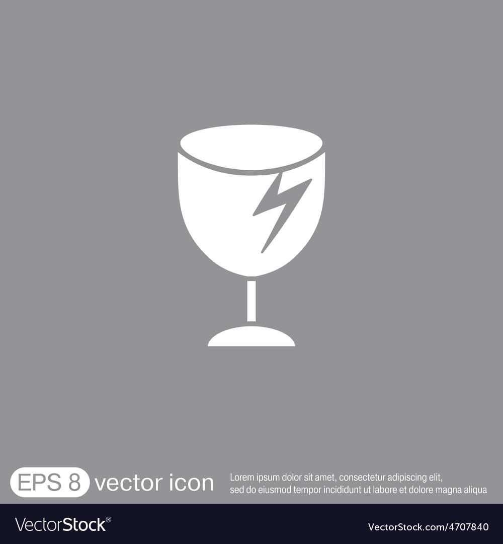 Fragile glass symbol logistics icon vector | Price: 1 Credit (USD $1)