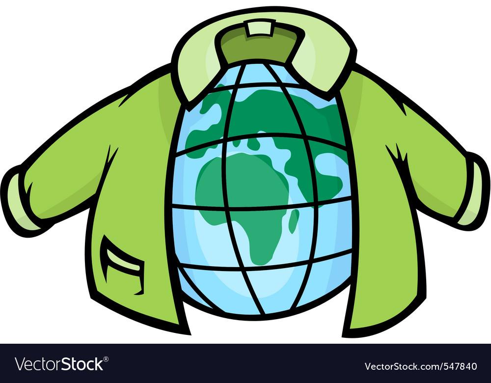 Globe jacket vector