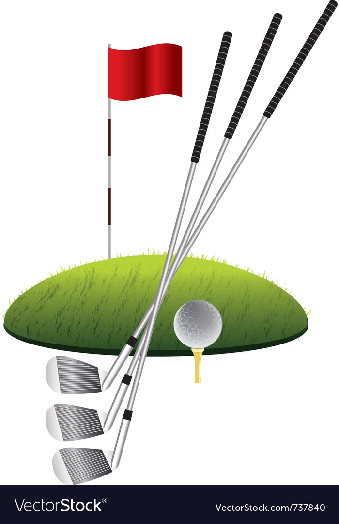 Golf clubs vector | Price: 3 Credit (USD $3)