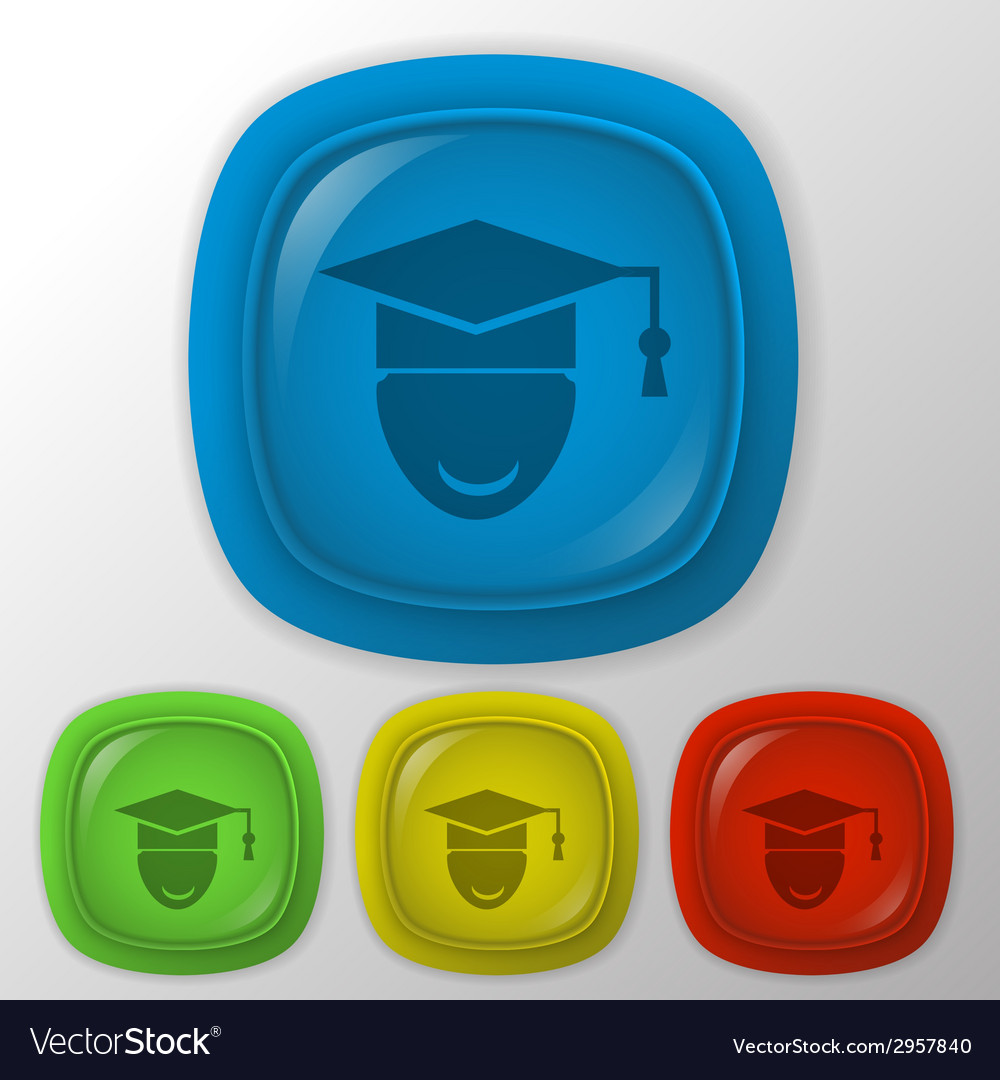 Graduate hat avatar vector | Price: 1 Credit (USD $1)