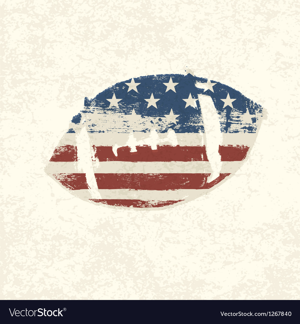 Grunge american football symbol vector | Price: 1 Credit (USD $1)
