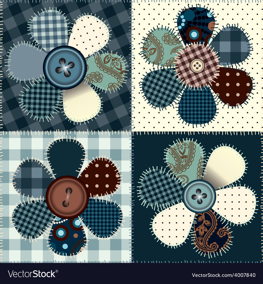 Patchwork with flowers vector   Price: 1 Credit (USD $1)