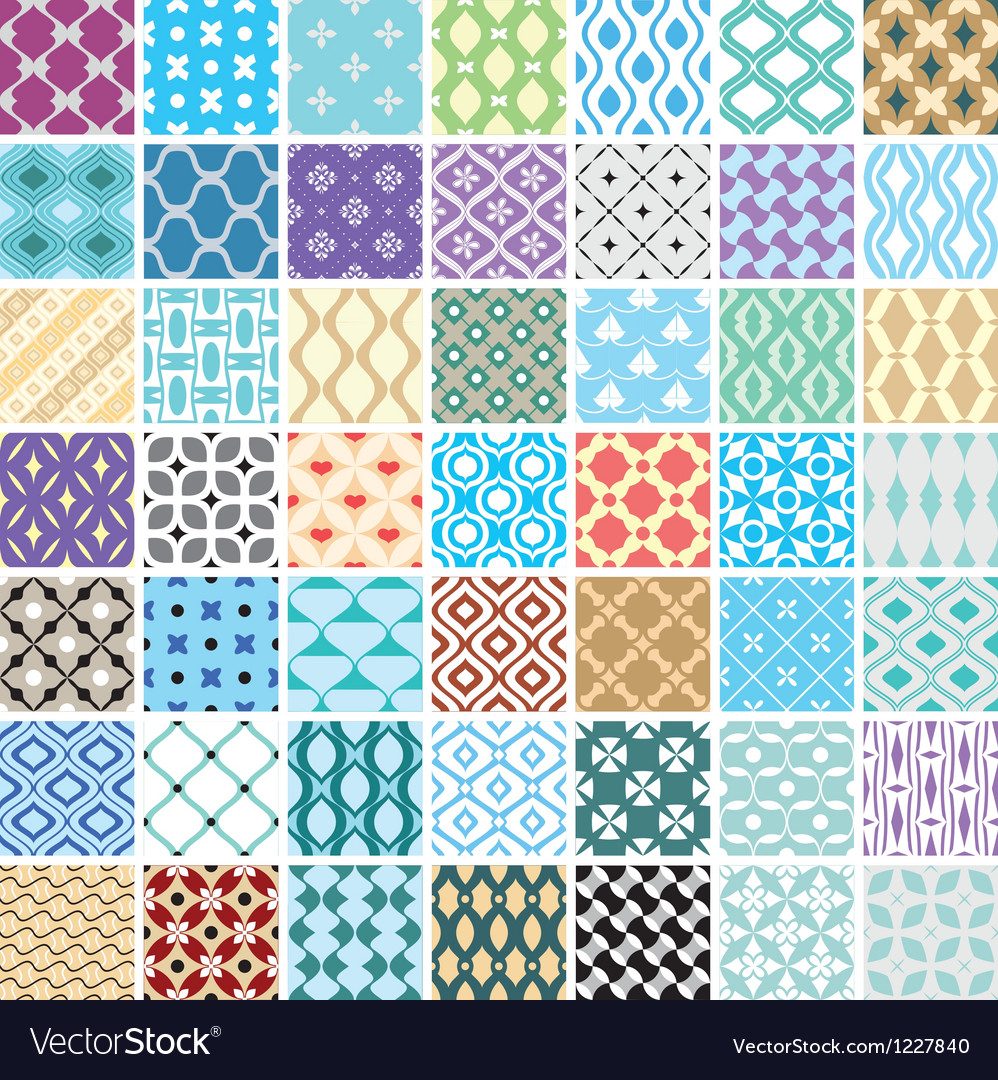 Seamless ornament patterns vector | Price: 3 Credit (USD $3)