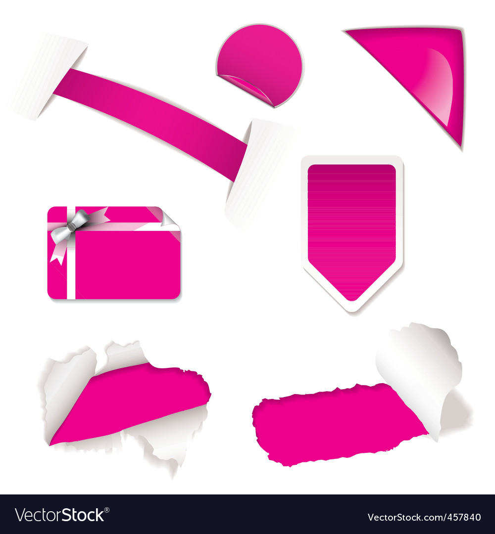 Shop sale elements pink vector | Price: 1 Credit (USD $1)