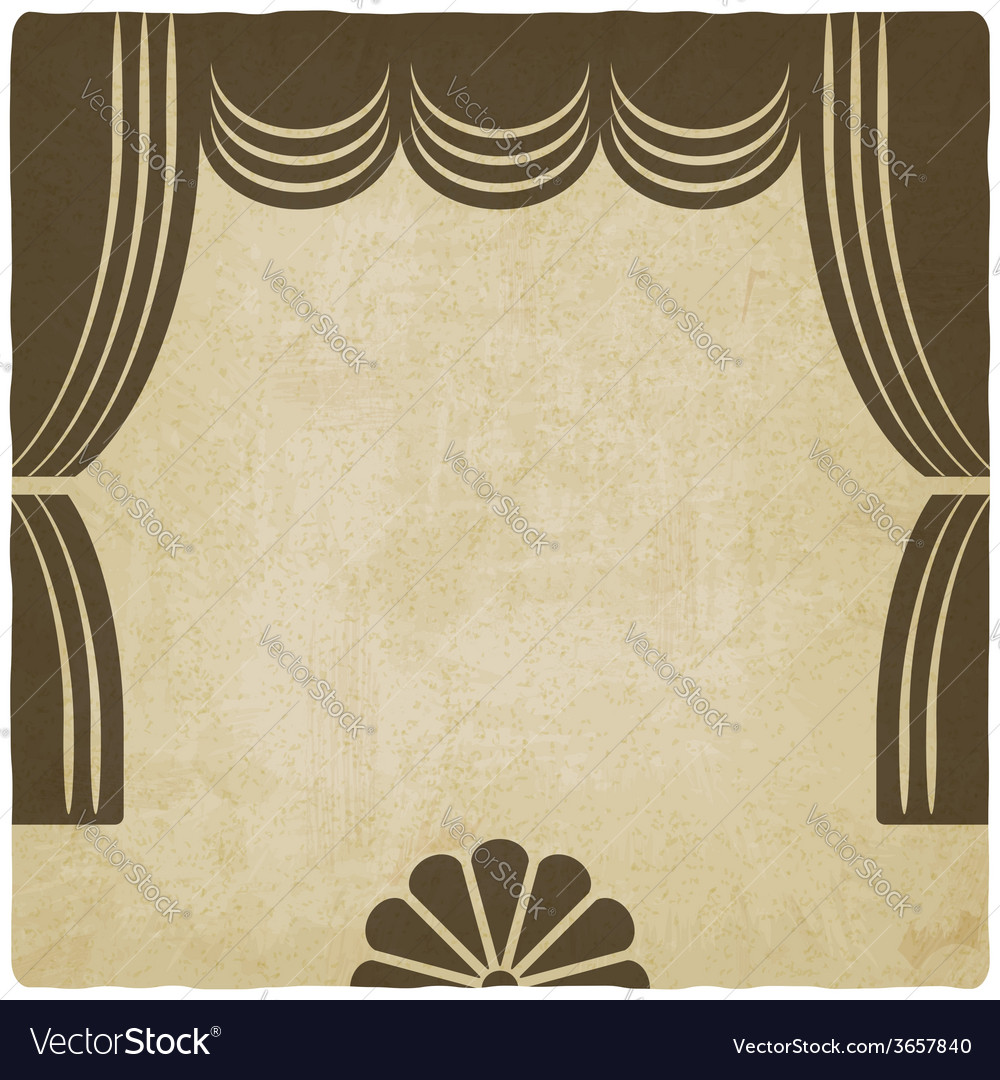 Theater stage with curtains old background vector | Price: 1 Credit (USD $1)