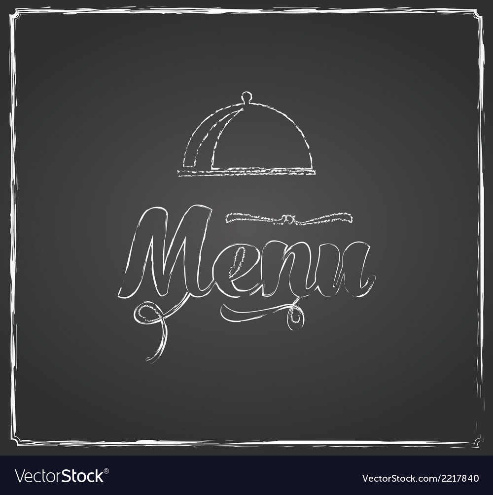 Vintage chalkboard menu design vector | Price: 1 Credit (USD $1)