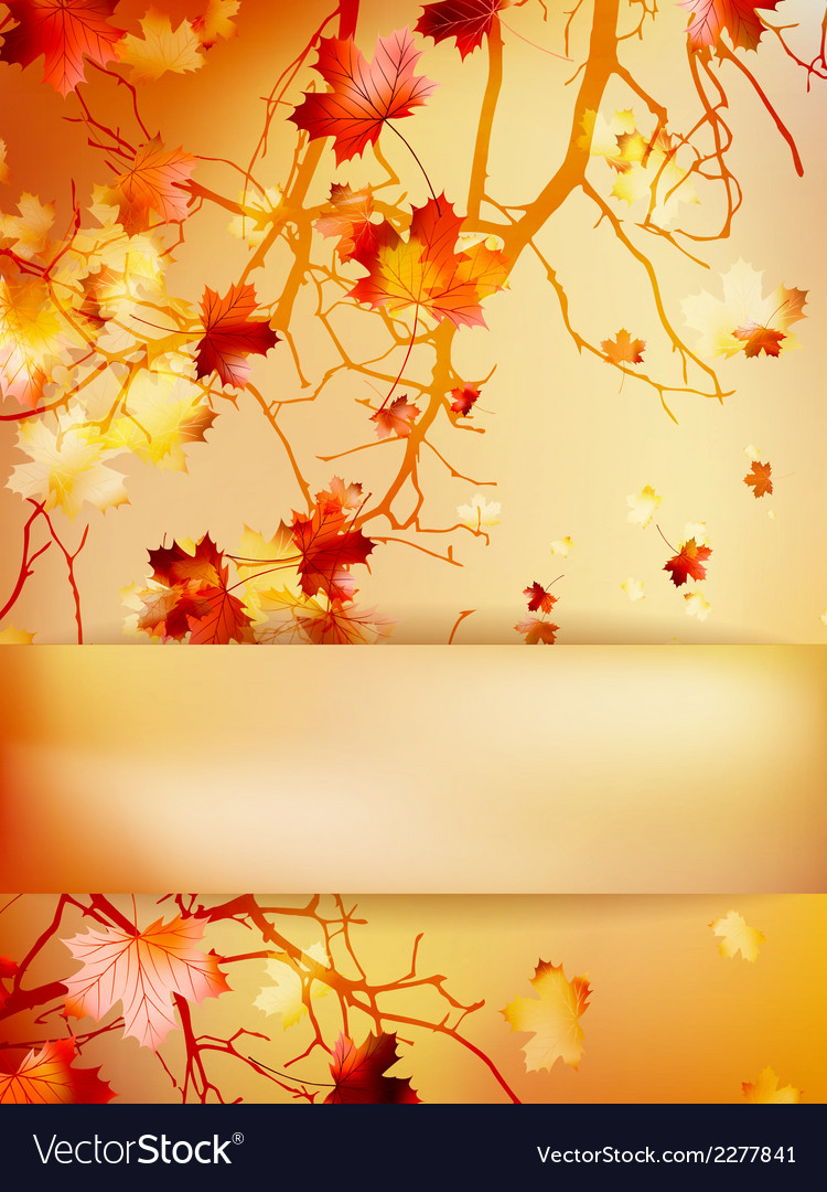 Autumn background with leaves eps 10 vector | Price: 1 Credit (USD $1)