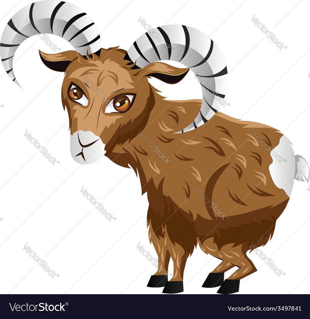Cartoon ram2 vector | Price: 3 Credit (USD $3)