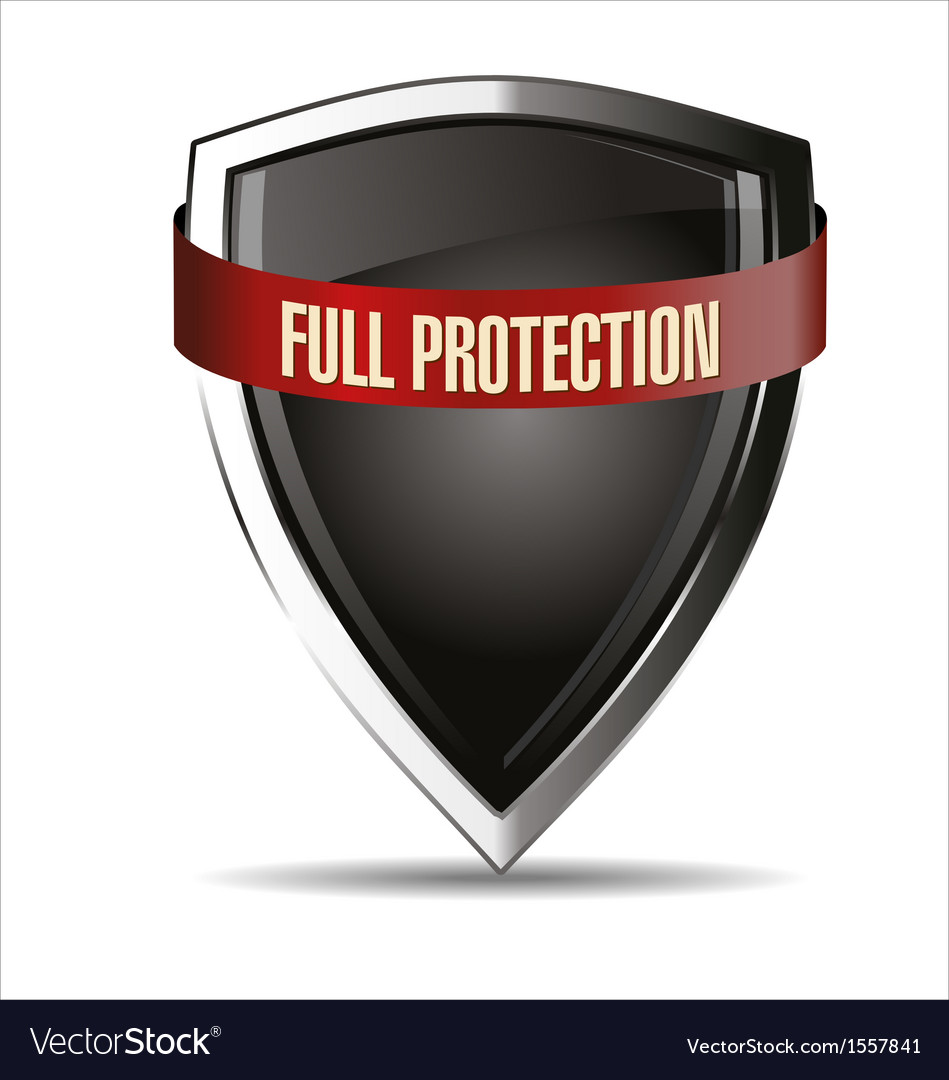 Full protection silver shield vector | Price: 1 Credit (USD $1)