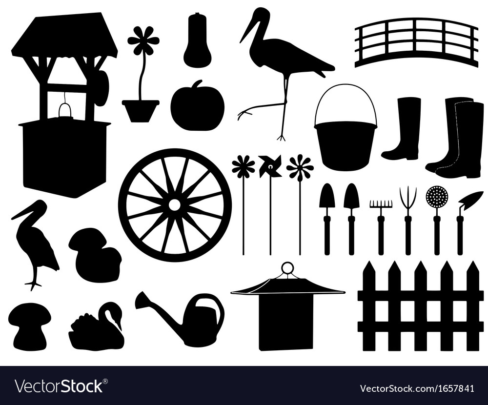 Garden decorations and tools vector | Price: 1 Credit (USD $1)